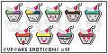 Cupcake Emoticons by vivs13