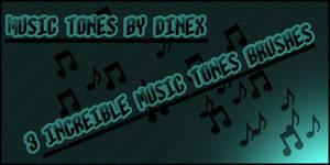 Music tone brushes