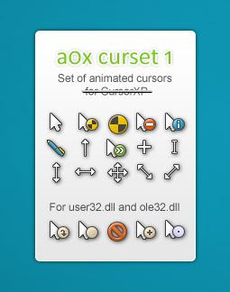 a0x curset 1, cur and ani ver. by SHADOW-XIII