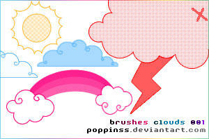 Brushes - Clouds 001 by Poppinss