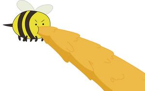 A bee by sircinnamon