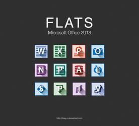 FLATS Microsoft Office 2013 Icons