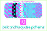 10 Pink and Turquoise Patterns