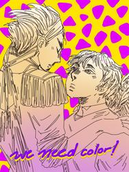 Ocs - Heru and Husani Lineart ! by KokoroArmy