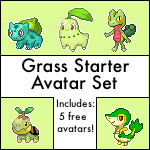 Free Grass Starter Avatar Set by Sweet-Fizz