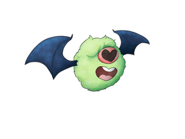 #527: Shiny Woobat! (Type Collab) by CitronGarde