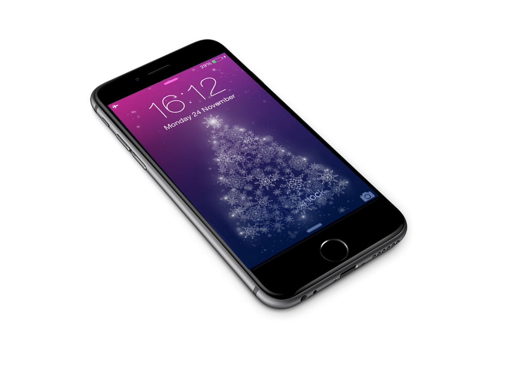 Christmas Tree - iPhone 6+ Wallpaper by janosch500