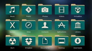 OS X  Folders green