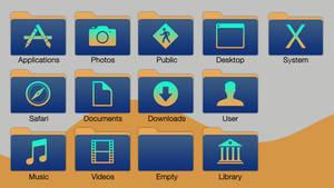 Blue-Gradient Folders