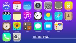 iOS 6 Flat icons