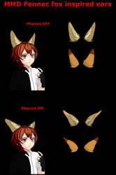 .:MMD:. Fennec Fox Inspired Ears by Miku-Nyan02