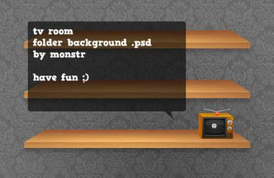 tv room .psd by monstrrr