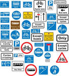 Traffic Signs 1 Bus and Cycle
