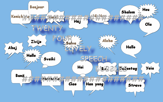 24 Lovely Speech Bubbles by diondeville
