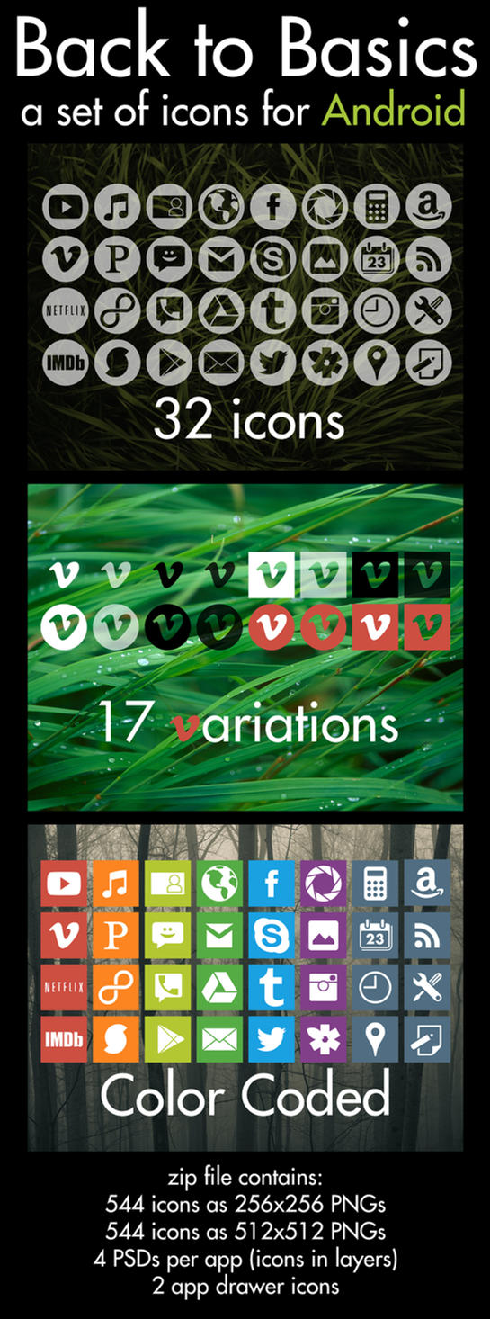 Back to Basics - Icons for Android by mchonej