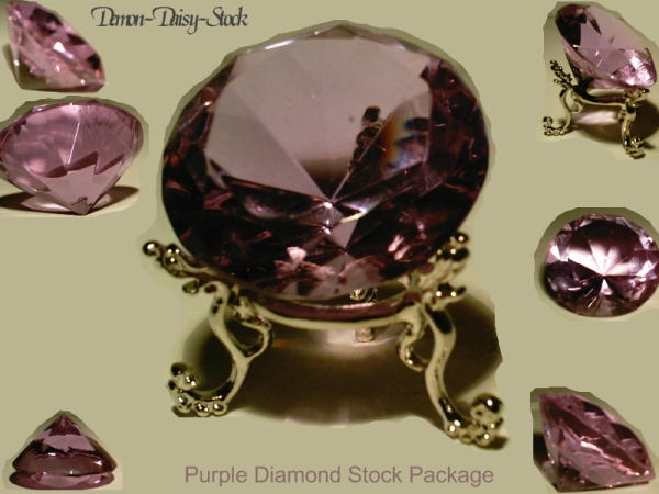 Purple Diamond Stock Package by Demon-Daisy-Stock