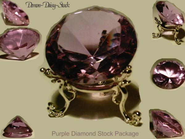 Purple Diamond Stock Package by Demon-Daisy-Stock