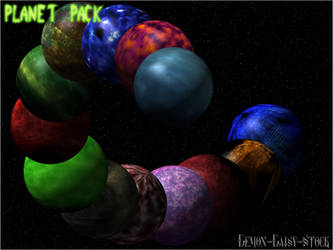Planet Pack by Demon-Daisy-Stock