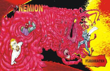 Nemion - Flesheater Album Cover Poster by JennerCarnelian
