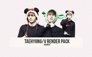 Taehyung/V Render Pack by baemilks