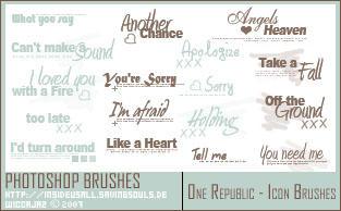 One Republic - Lyric Brushes