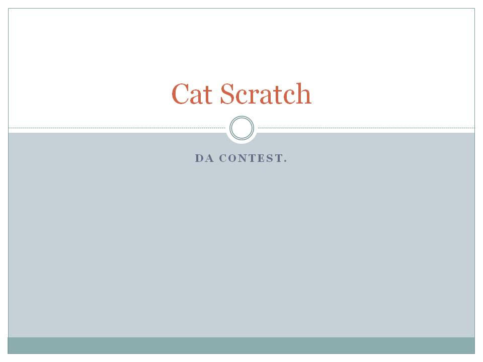 Cat scratch Writers preview. by PSOWILL