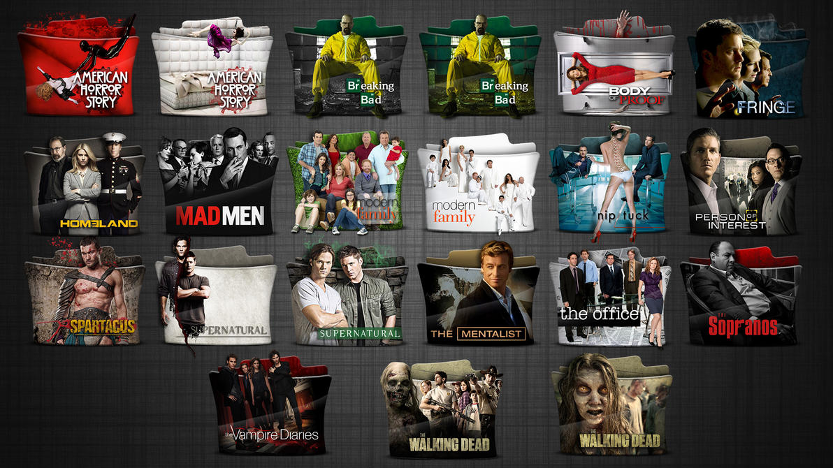 Tv series folder icons pack 4 by stavrosvran