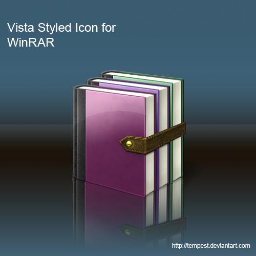 Vista Styled Icon For WinRAR by ChadJackson