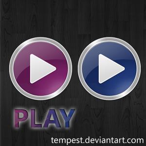 'Play' Media Player Icons by ChadJackson