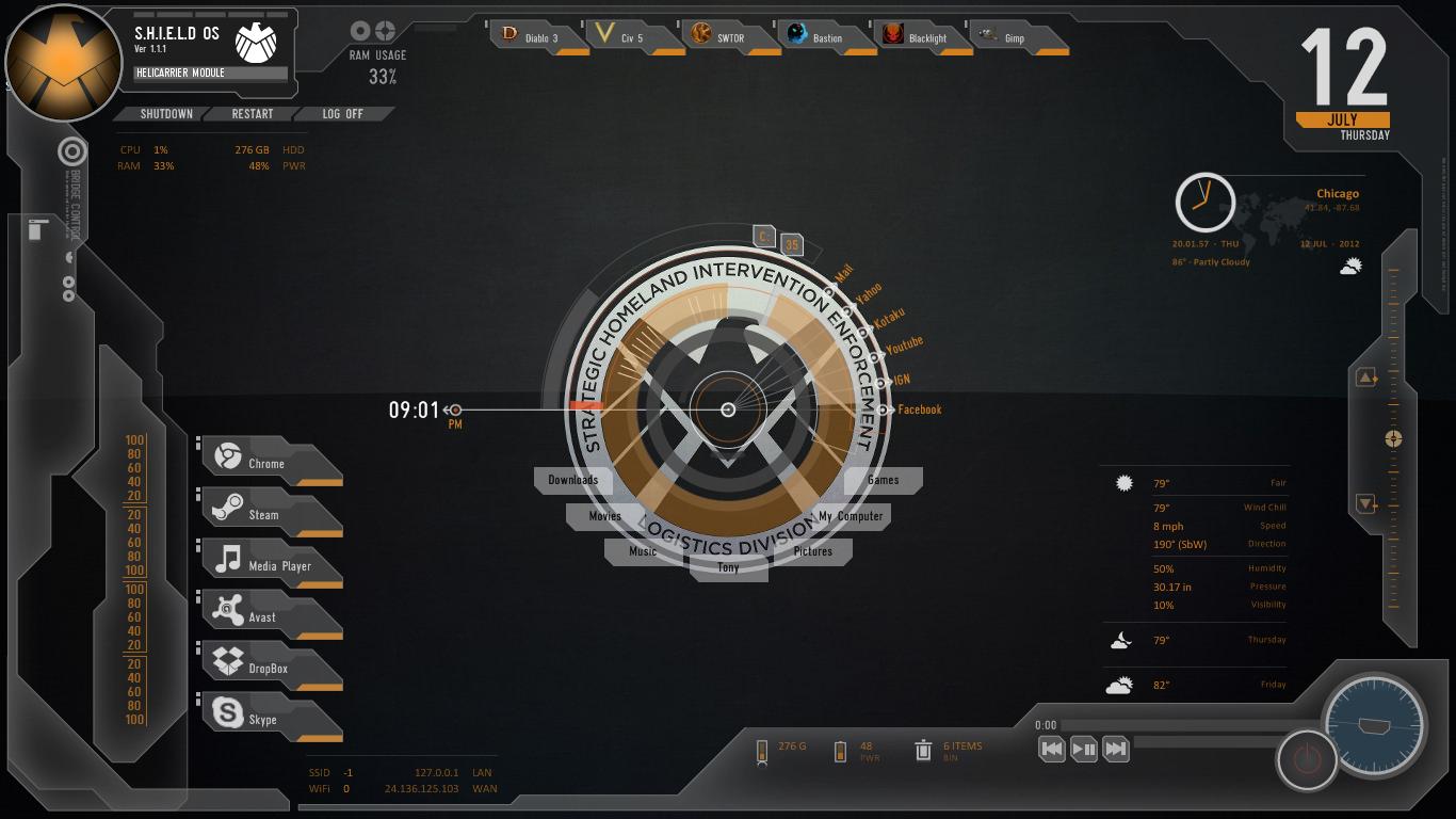Avengers SHIELD OS Skin - Modified v1.4 by Oni3298