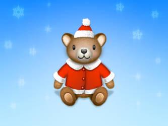 Teddy bear Santa icon by wakaba556