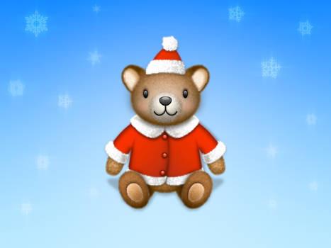 Teddy bear Santa icon