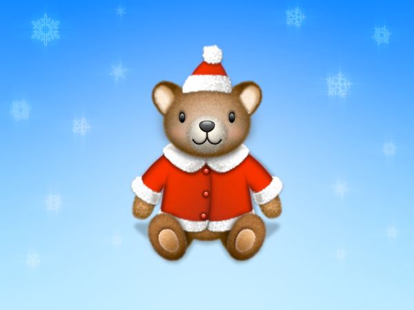 download this Teddy Bear Santa Icon Wakaba picture