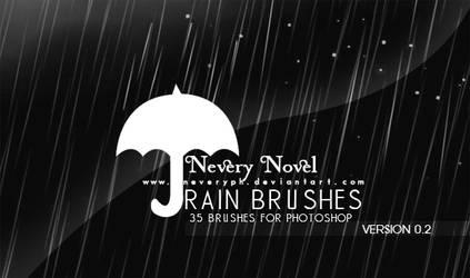 Rain Brushes by Neveryph-stock