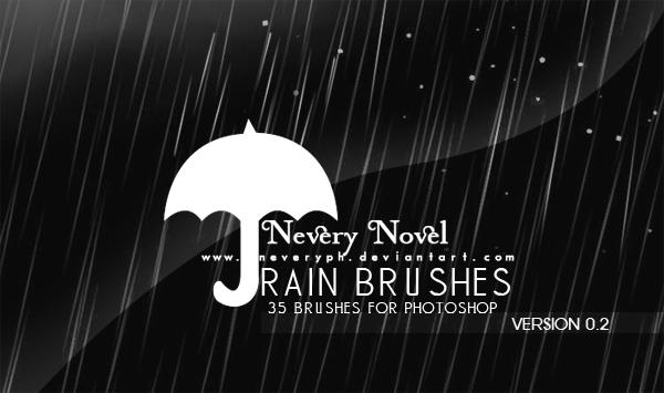 Rain Brushes by Neveryph-stock