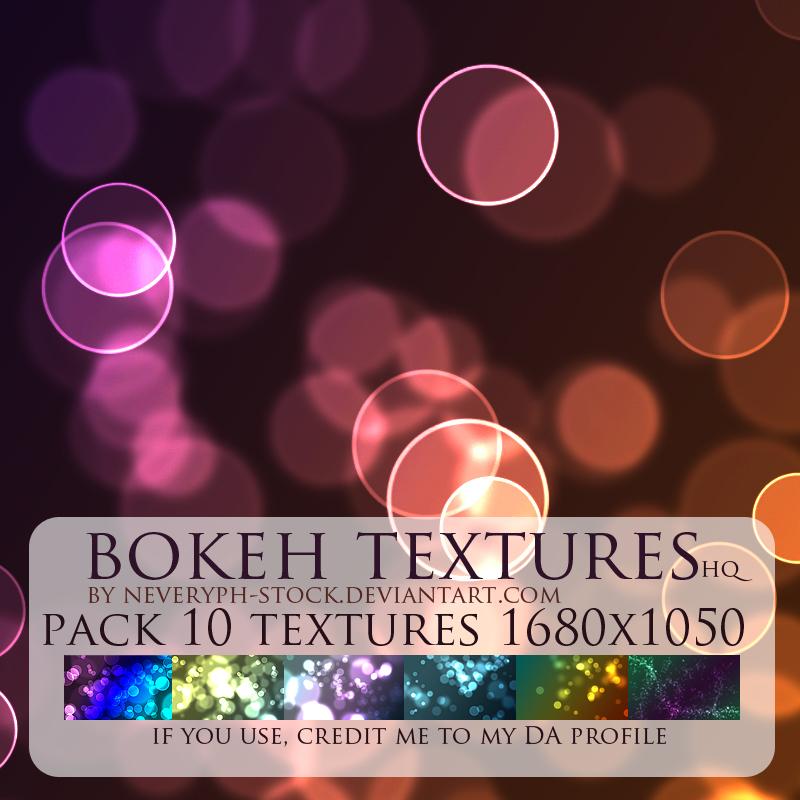 Bokeh light textures pack 10