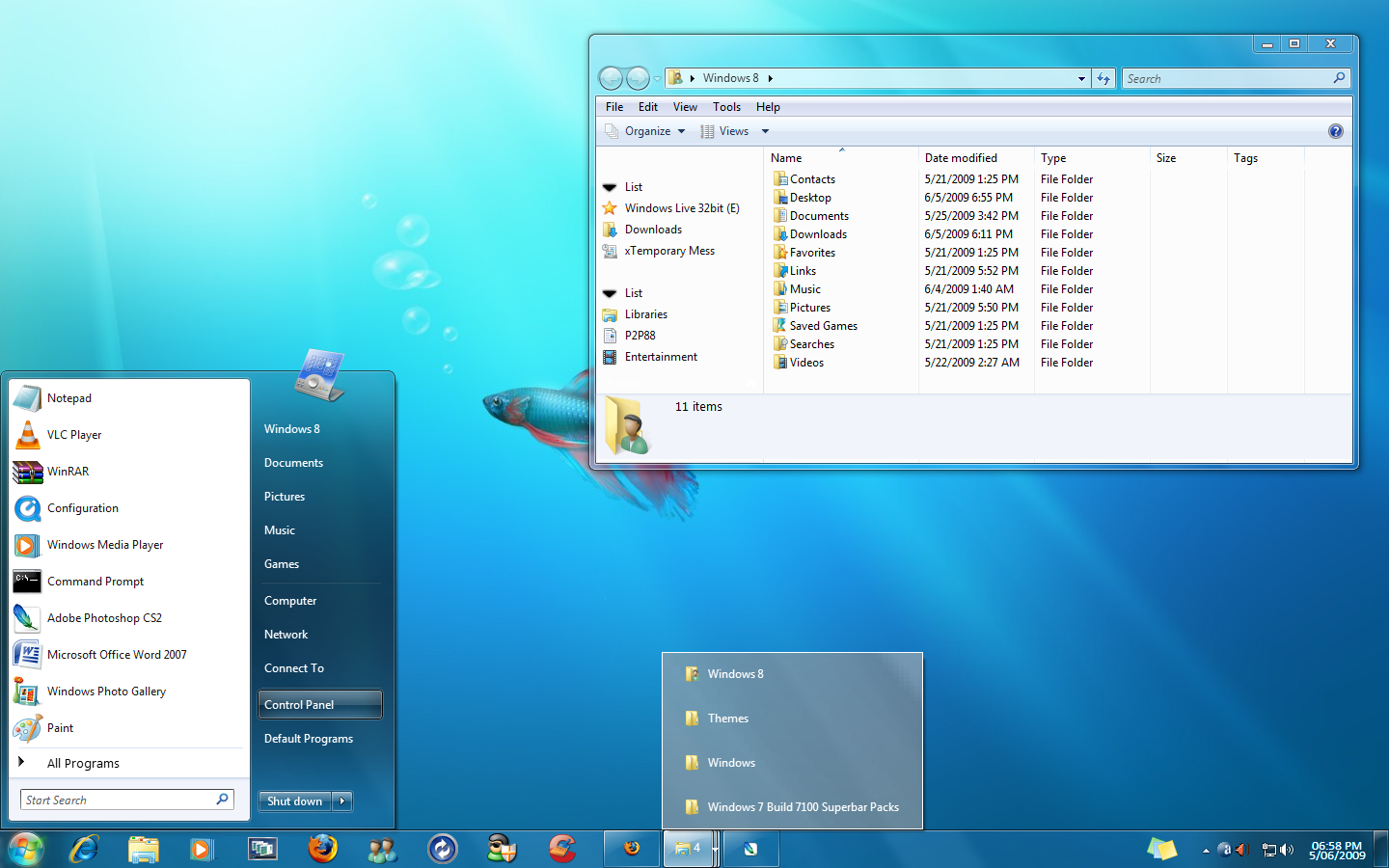 Windows 7 Build 7100 Superbar by mufflerexoz