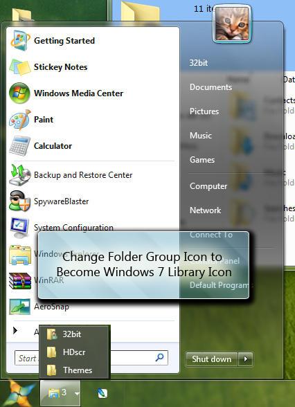 Windows 7 Libraries in Vista by mufflerexoz