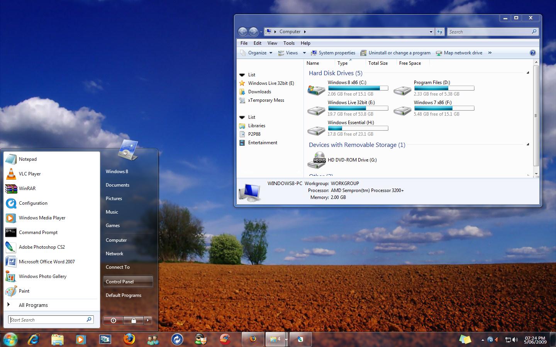 Windows 7 Extra Vista by mufflerexoz