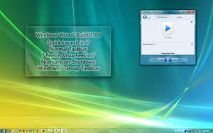 Windows Vista 7 Normal Taskbar by mufflerexoz