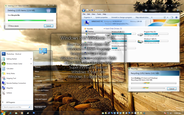 Windows 8 themes in Windows 7 by mufflerexoz