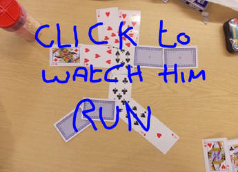 Card man running stopmotion by MrSparkles10
