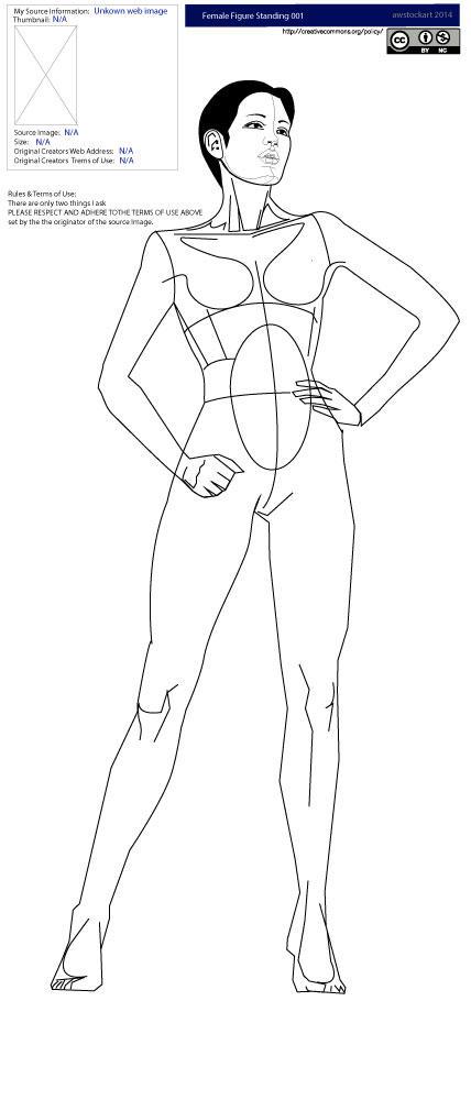 [STOCK] Female Figure Standing 001