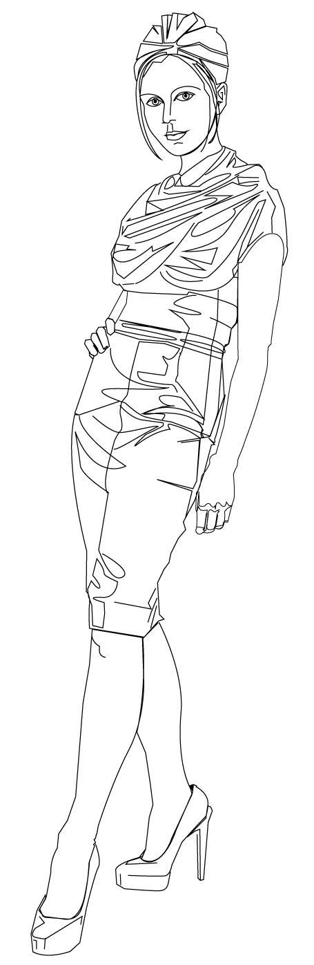 [STOCK] Female-figure-standing-002