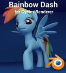 Rainbow Dash for Cycles Renderer (Blender)