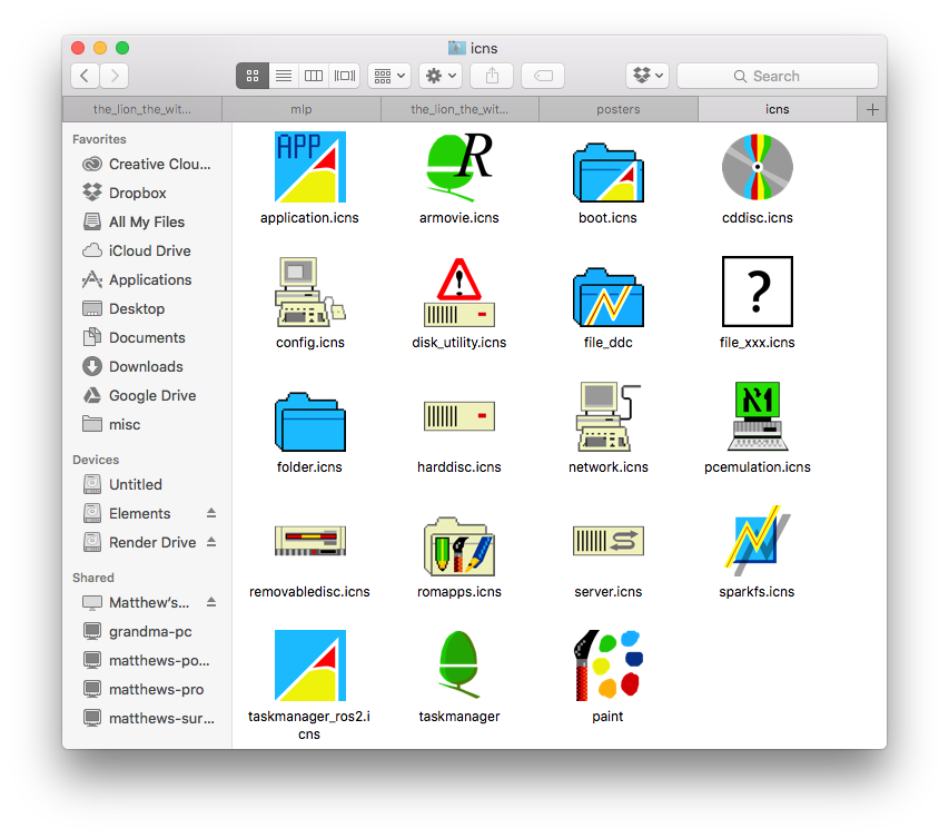 Risc OS 3 iconpack (For Windows + Macs) by Hexedecimal