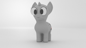 Chibi Filly Rig Template - Turntable (GIF) by Hexedecimal