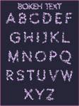 Bokeh Alphabet PNG