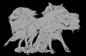 [EA] Forest Wolf Bases by CordialCrow