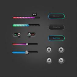 Free UI Elements by Czarny-Design